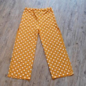 Orange polka dot pants